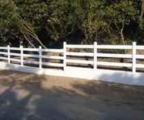 Clôture blanche en pvc, avec lisses horizontales, pour le jardin ou autre