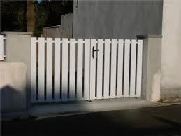 A2P TUQUET portail en pvc blanc, ajouré sur ossature aluminium à Villers sur Trie 60590 dans l'Oise