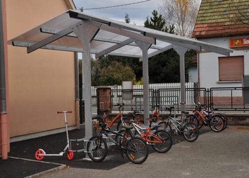 Installation d'abris ou local vélos, pour les écoles, centres publics et autres