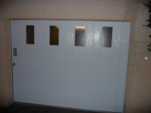 Instalaltion d'une porte da garage latérale à Montjavoult 60240